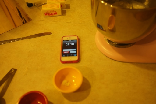 Who needs a fancy kitchen timer when you have an iPhone at your disposal?