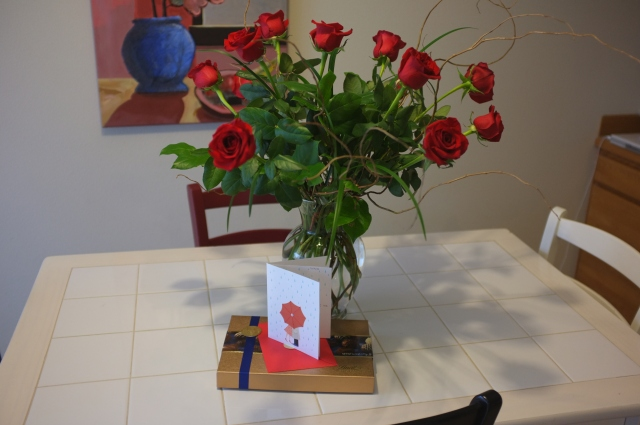 Flowers, card, and chocolates from my darling Ian. I have the most wonderful lover <3