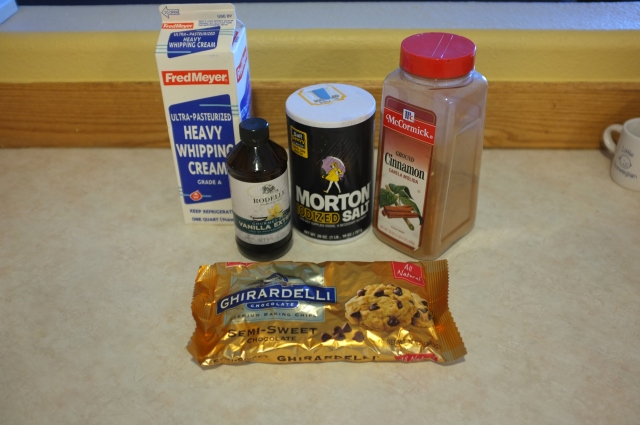 Chocolate whipped cream ingredients