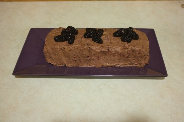After chilling in the fridge for over 12 hours and with some fresh blackberries on top :)