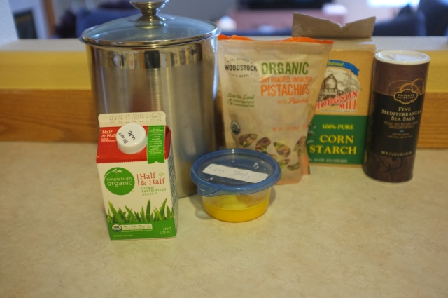 Pudding ingredients (always make pudding first)