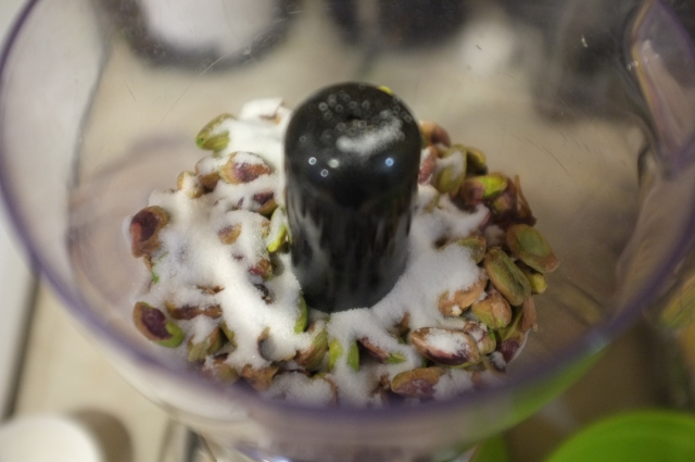Pistachios and sugar