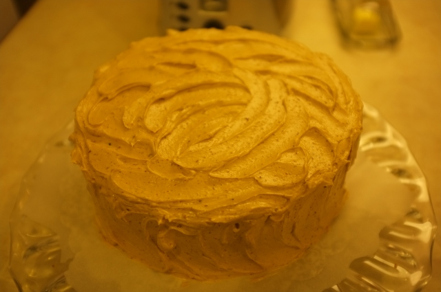 #3 Banana Cake with Coffee Walnut Buttercream Frosting