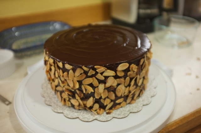 #4 Jam Cake with Caramel Chocolate Ganache