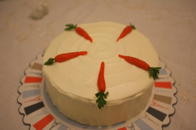 Decorated Carrot Cake