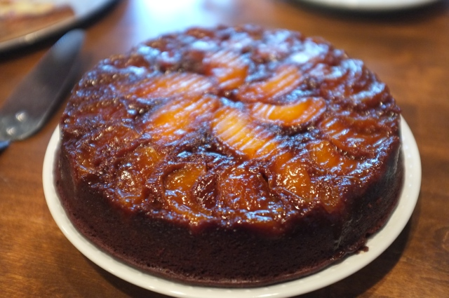 #23 Chocolate Apricot Upside Down cake
