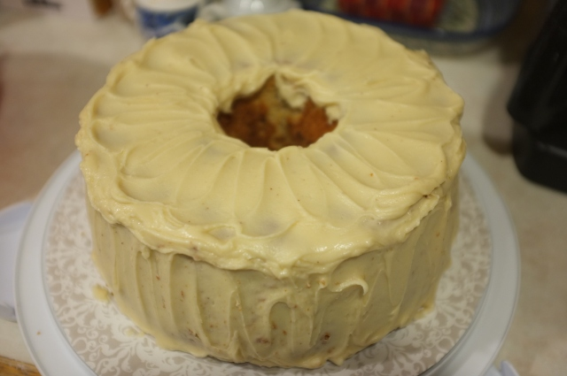 #40 Maple Pecan Chiffon Cake with Brown Butter Icing