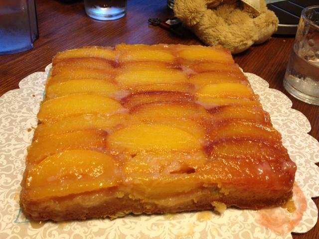 #33 Nectarine-Oat Upside Down cake