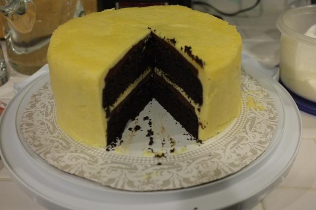 #46 Black & White cake