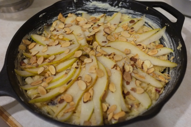 Toasted almonds added
