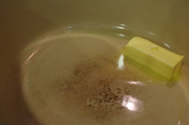 Melting the butter