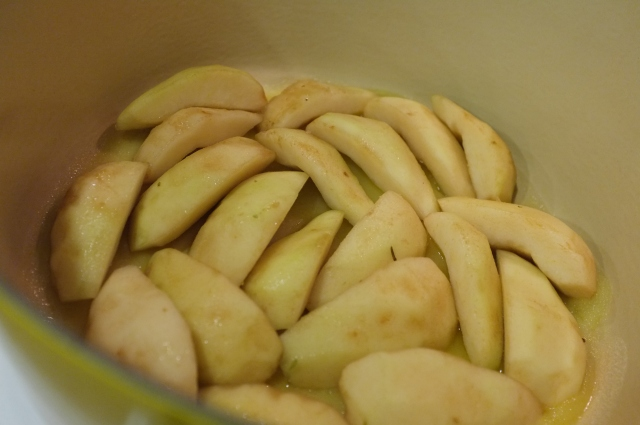 Pears a-cooking